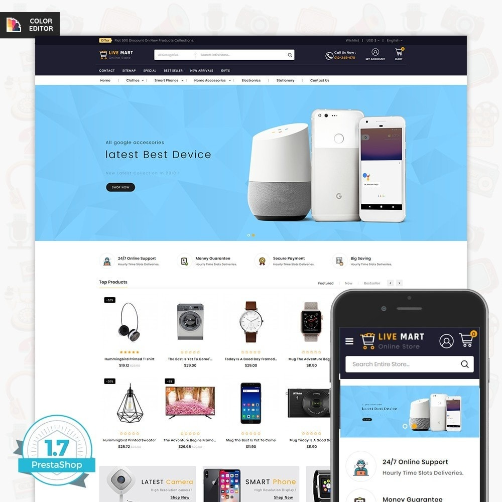 theme - Eletrônicos & High Tech - LiveMart - The Mega Ecommerce Store - 1