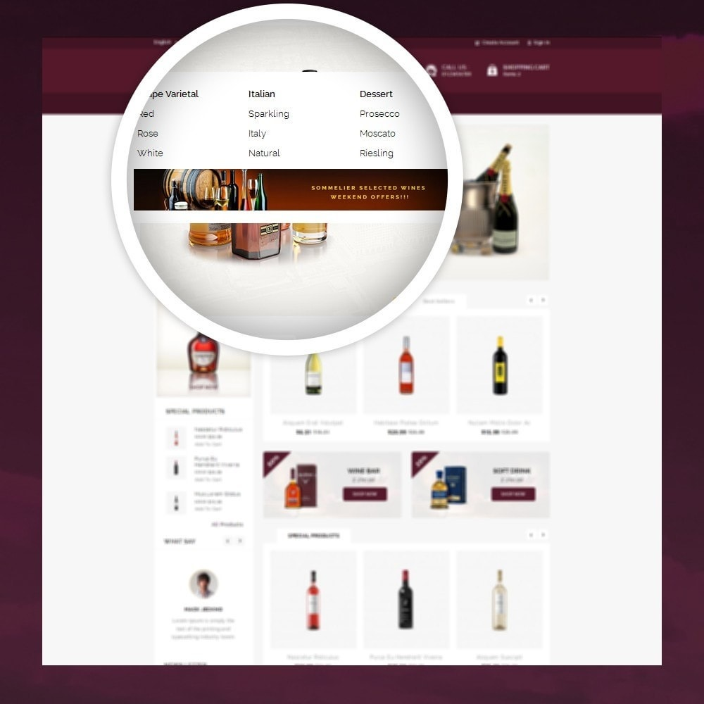 theme - Napoje & Wyroby tytoniowe - Atlantis - The Wine Shop - 7
