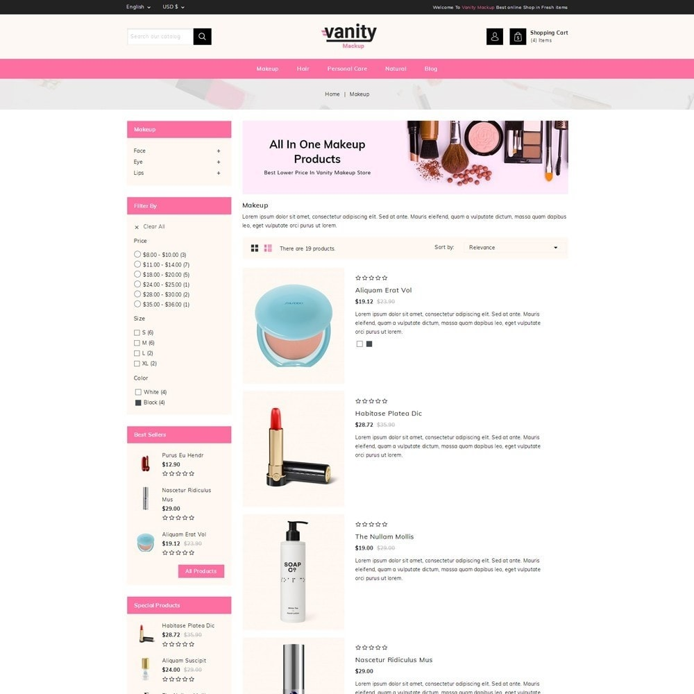 theme - Health & Beauty - Vanity - Mackup Store - 4
