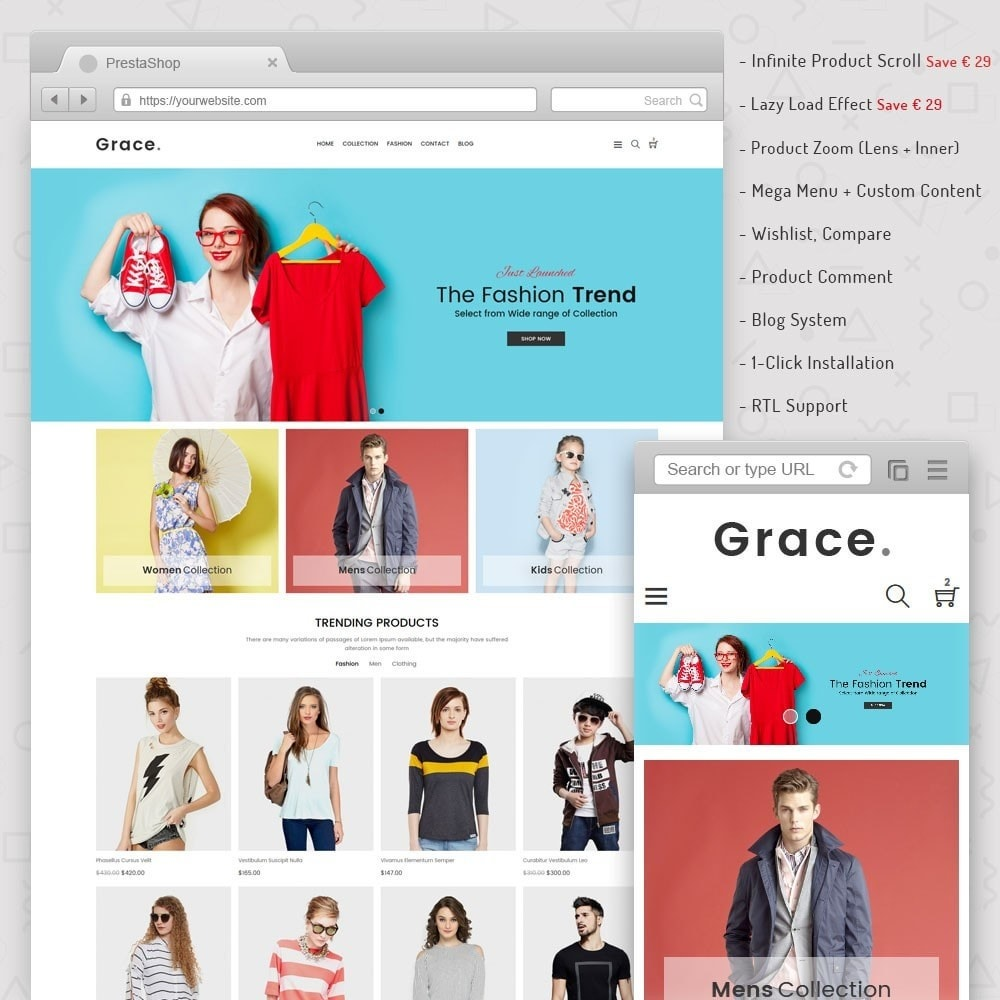 theme - Mode & Chaussures - Grace Fashion Store - 1