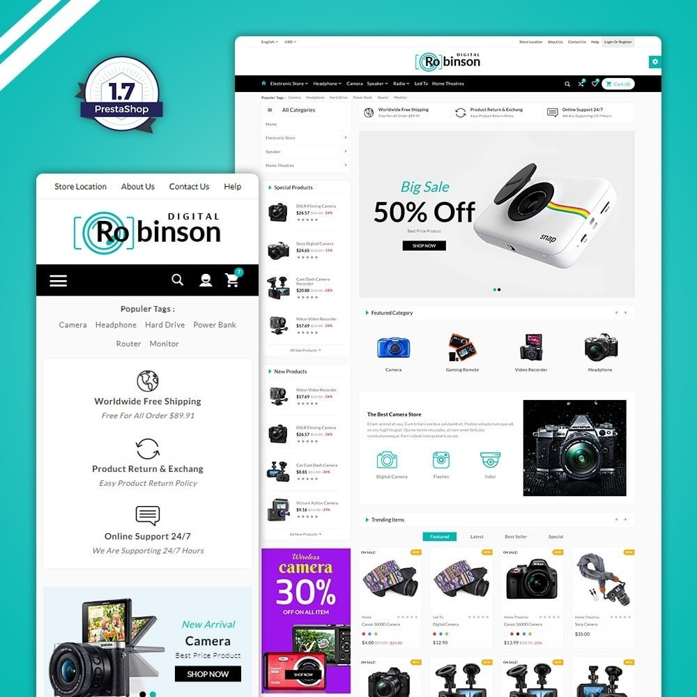 theme - Eletrônicos & High Tech - Binson – The Electronic Store - 1