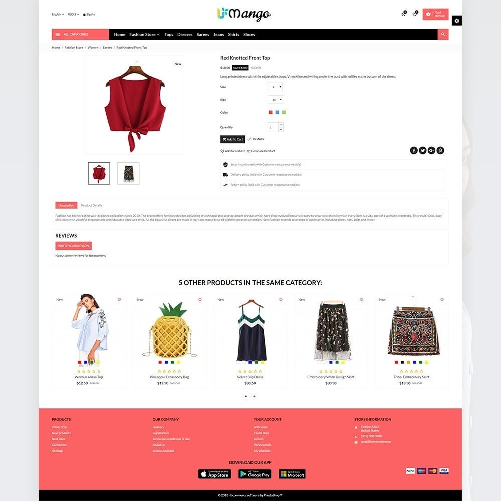 theme - Moda y Calzado - Mango Fashion and Stylish Mega Shop - 5