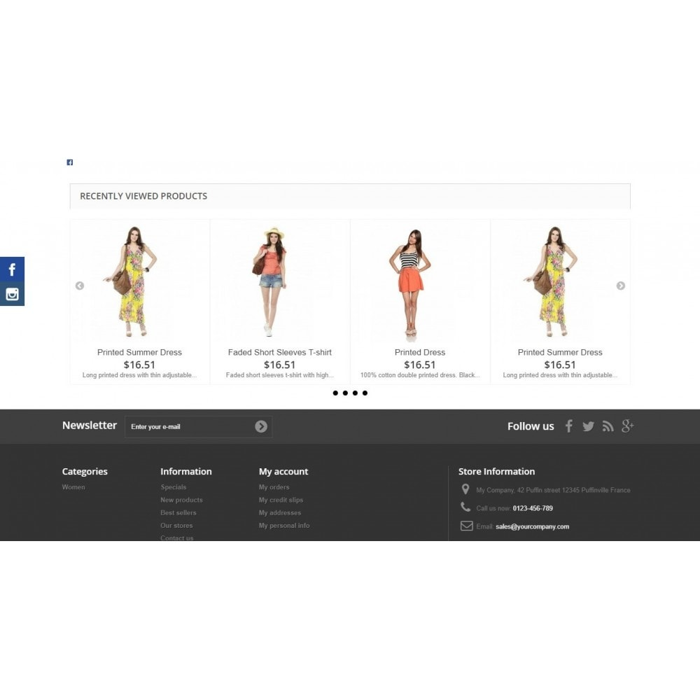 module - Ventas cruzadas y Packs de productos - Recently Viewed Products - Carousel and Responsive - 5
