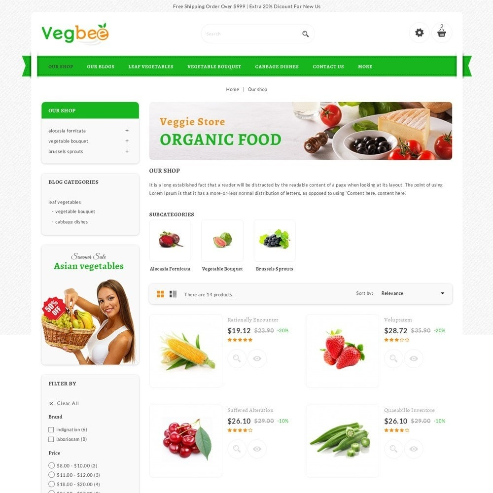 theme - Alimentation & Restauration - Vegbee - The Grocery Store - 4