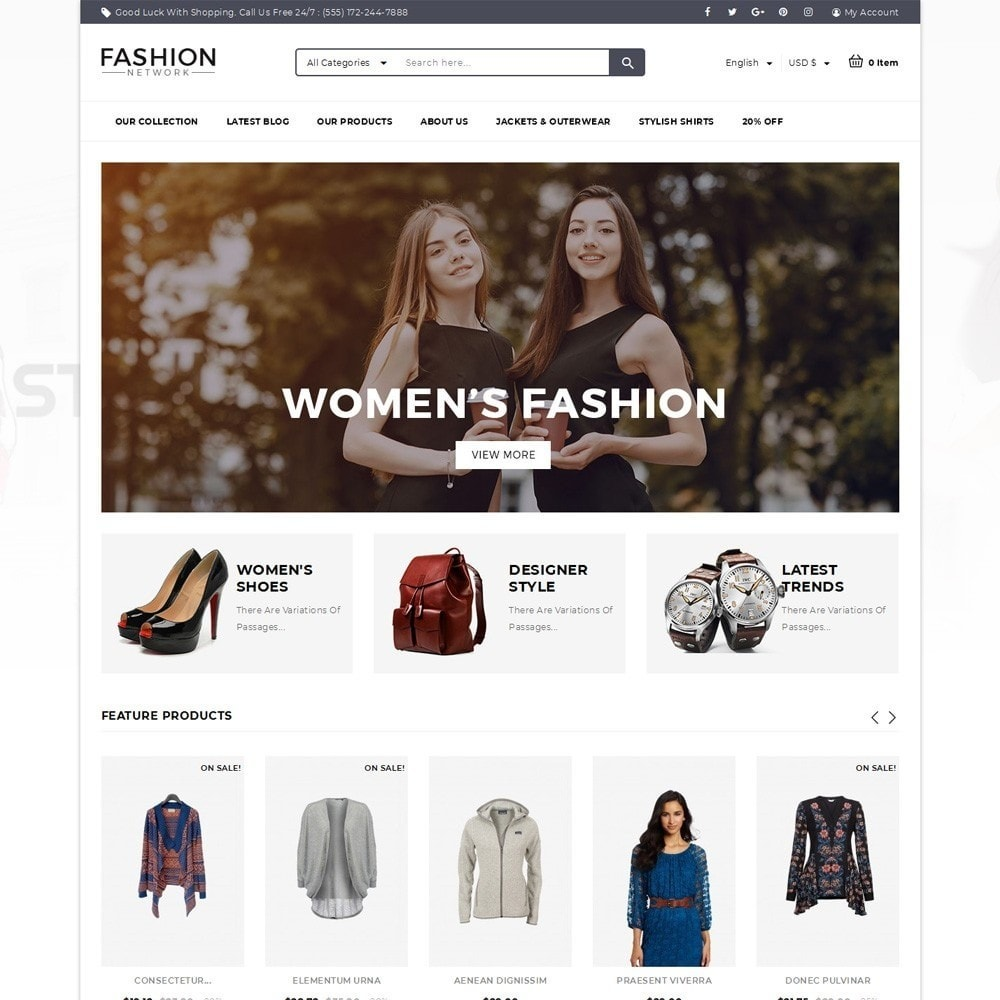 theme - Мода и обувь - Fashion Network - The Fashion Shop - 2