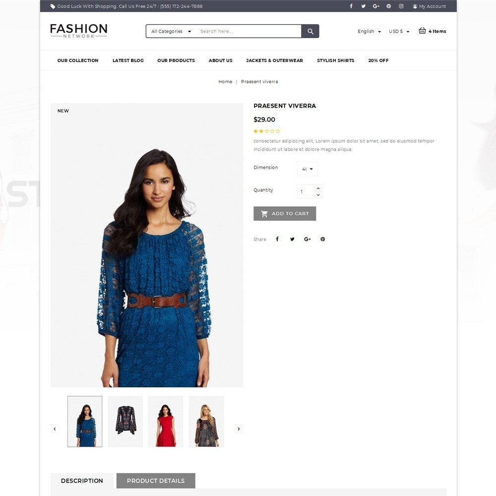theme - Мода и обувь - Fashion Network - The Fashion Shop - 5