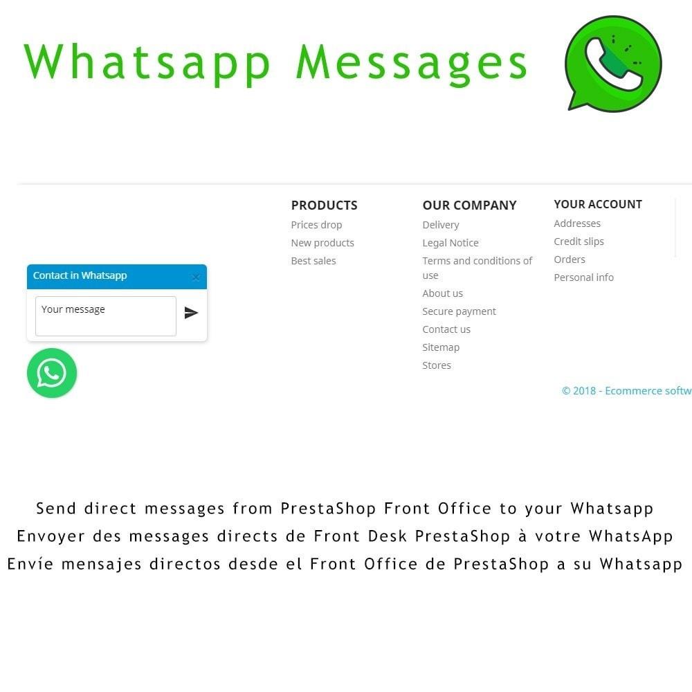 module - Ondersteuning & Online chat - Whatsapp MSG - 1