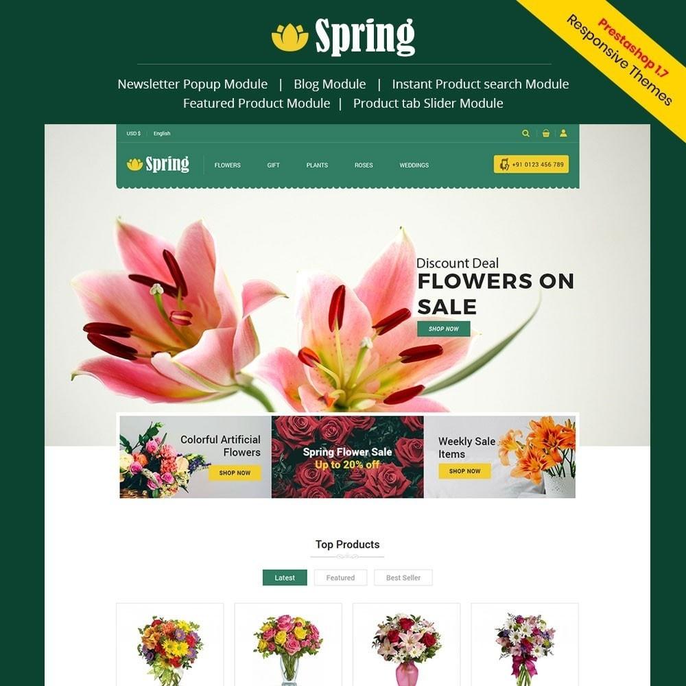 theme - Cibo & Ristorazione - Spring Flower Store - 1