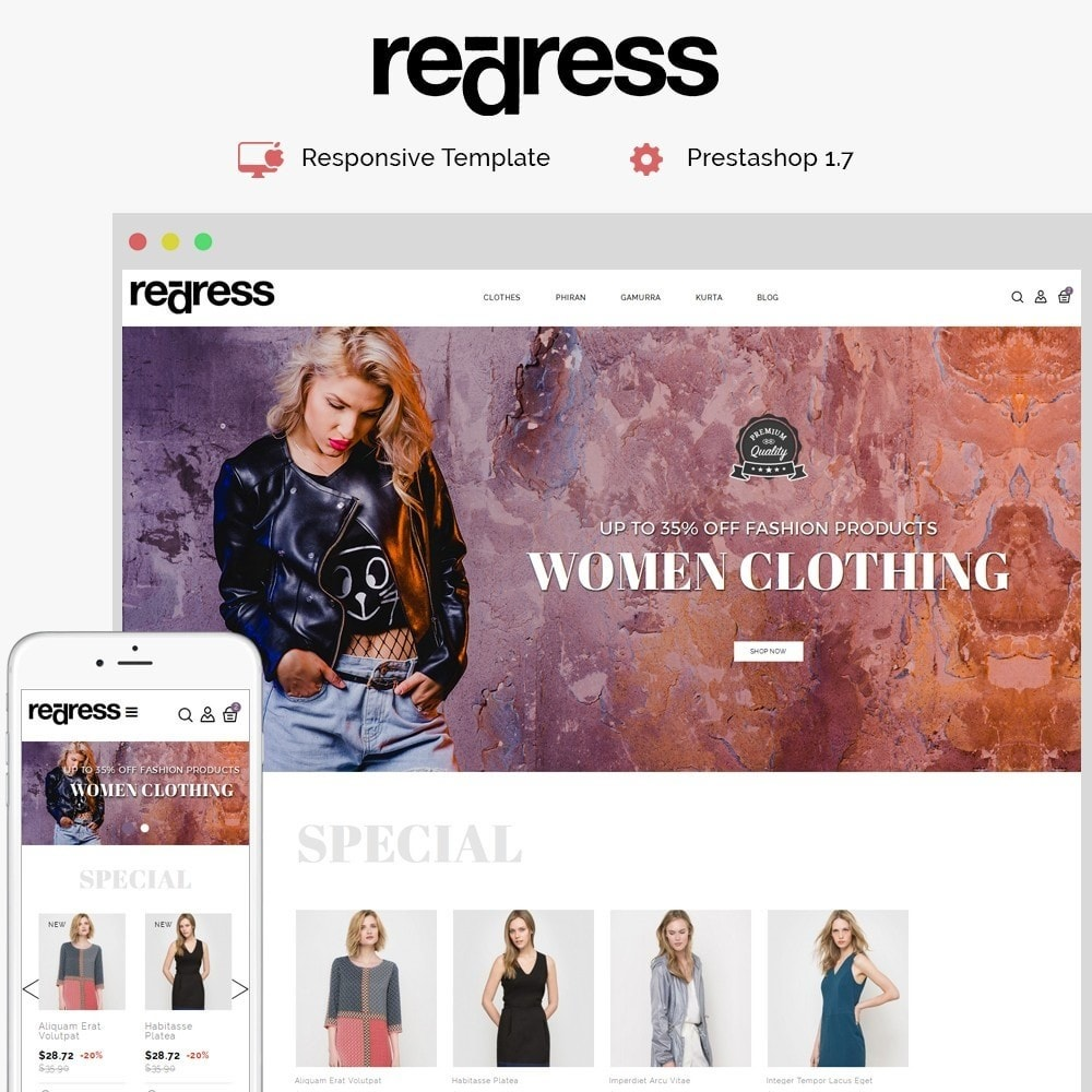 theme - Moda & Calzature - Redress Demo Store - 1