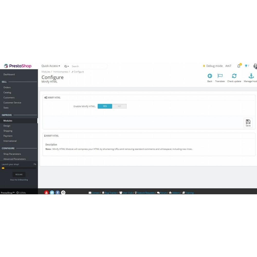 module - Rendimiento del sitio web - Minify HTML (HTML, JS inline, CSS inline) - 1