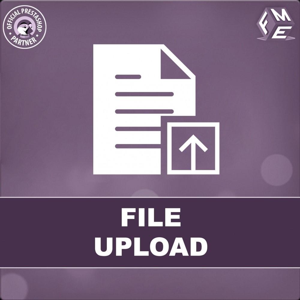 module - Zusatzinformationen & Produkt-Tabs - Kunden können Dateien von Bestellungen hochladen - 1