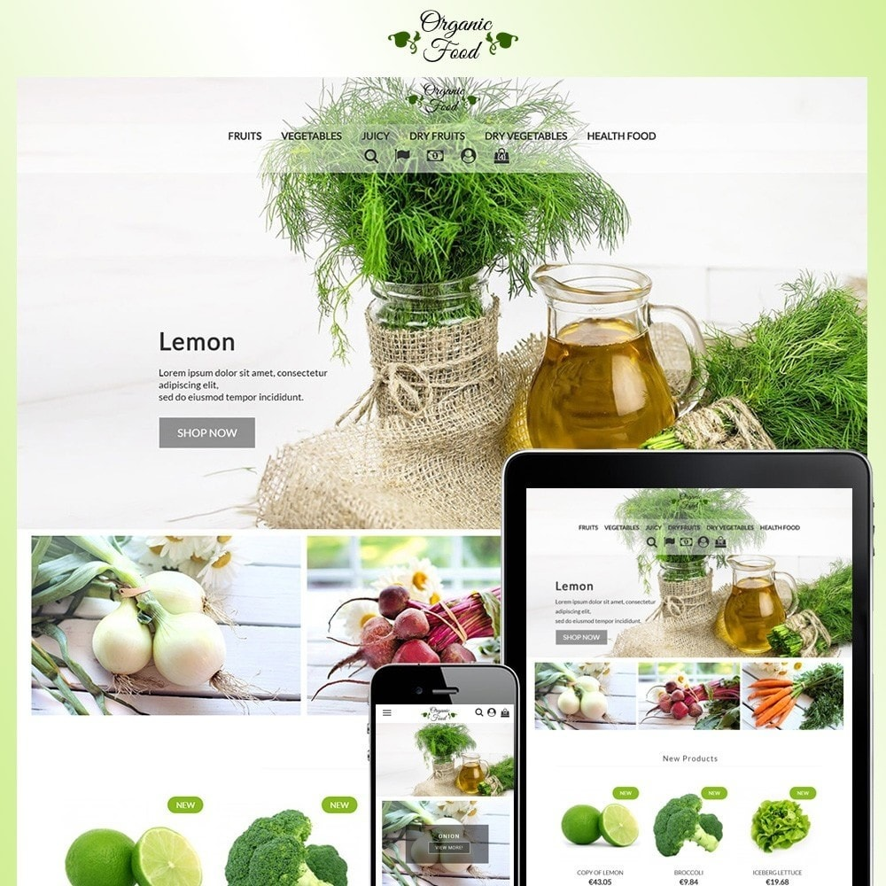 theme - Alimentation & Restauration - Organic Food - 1