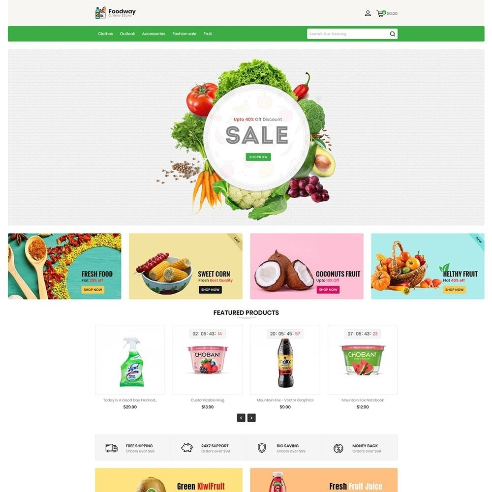 theme - Food & Restaurant - Foodway Online Store - 2