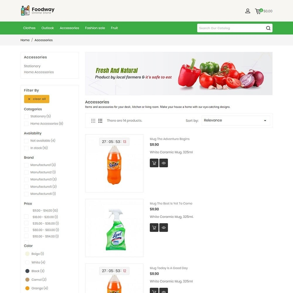 theme - Food & Restaurant - Foodway Online Store - 3