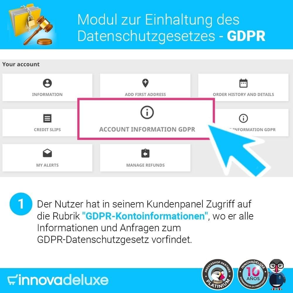 module - Rechtssicherheit - Einhaltung der Datenschutzgesetze - GDPR - 2