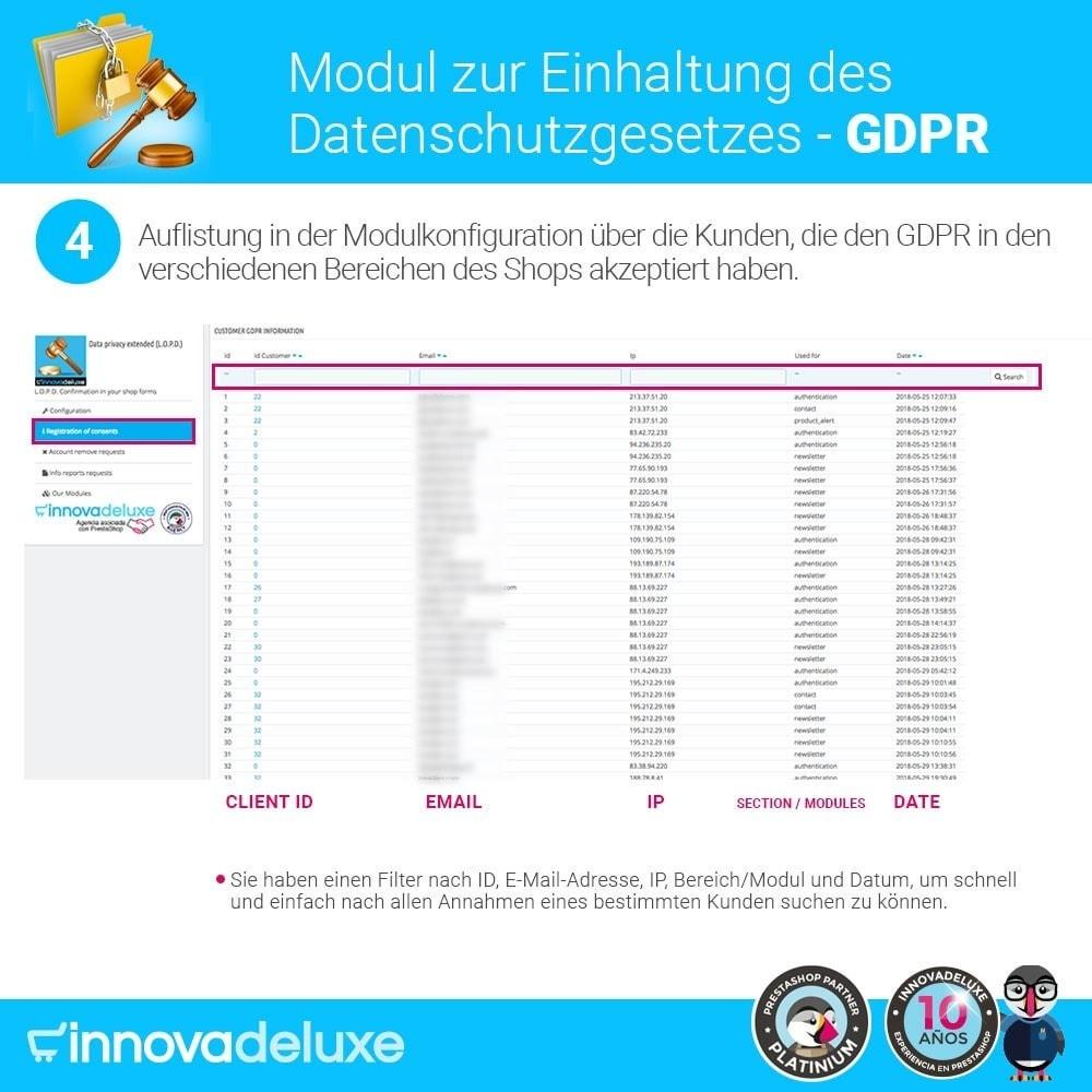 module - Rechtssicherheit - Einhaltung der Datenschutzgesetze - GDPR - 9