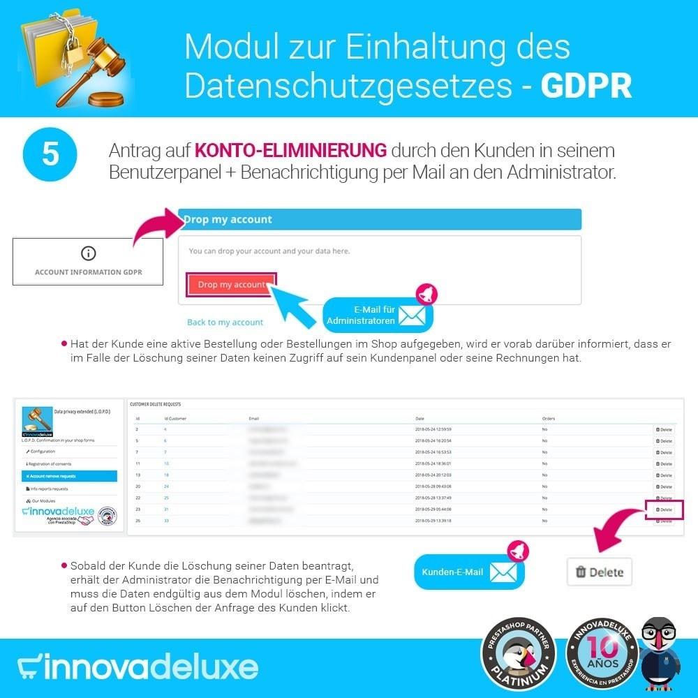 module - Rechtssicherheit - Einhaltung der Datenschutzgesetze - GDPR - 10