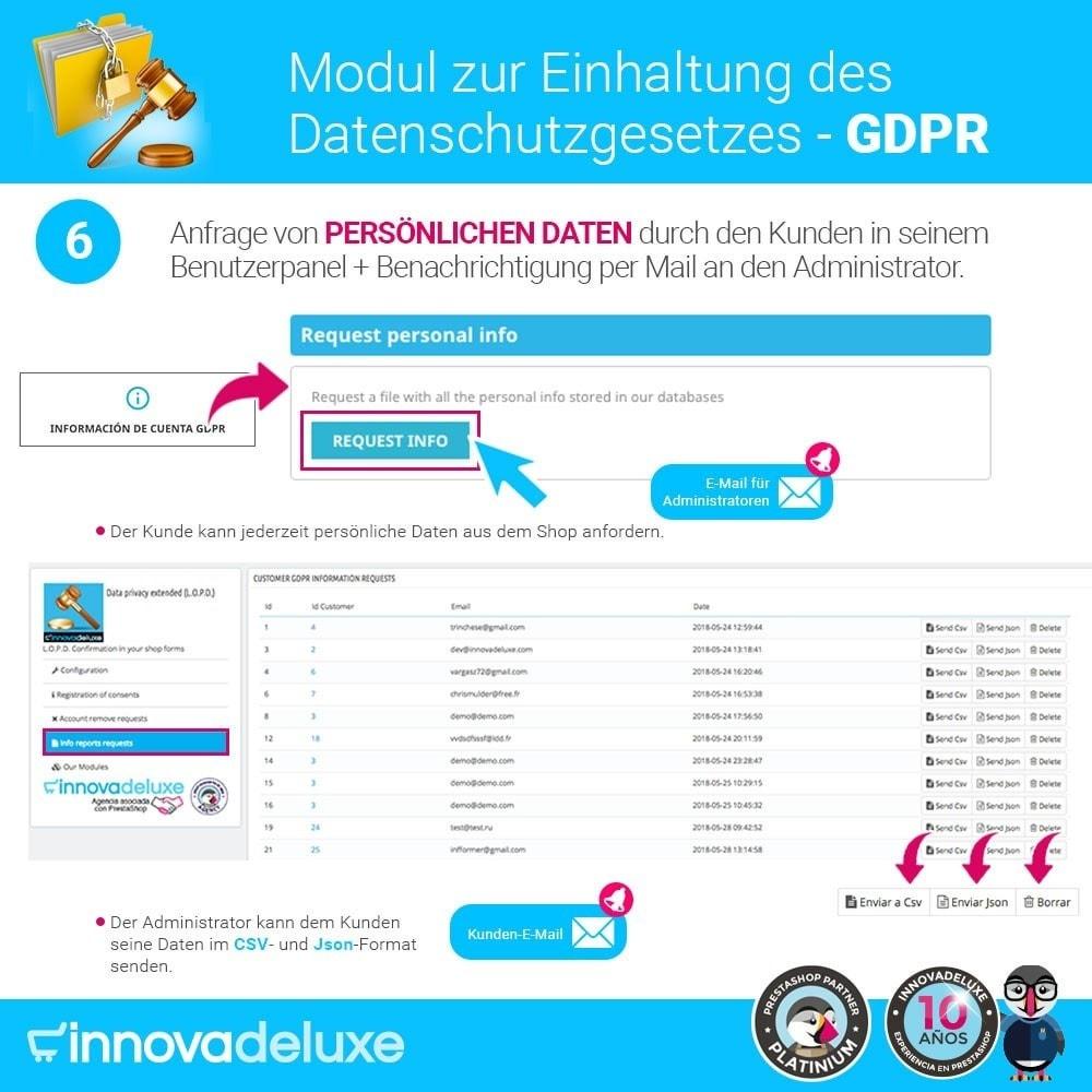 module - Rechtssicherheit - Einhaltung der Datenschutzgesetze - GDPR - 11