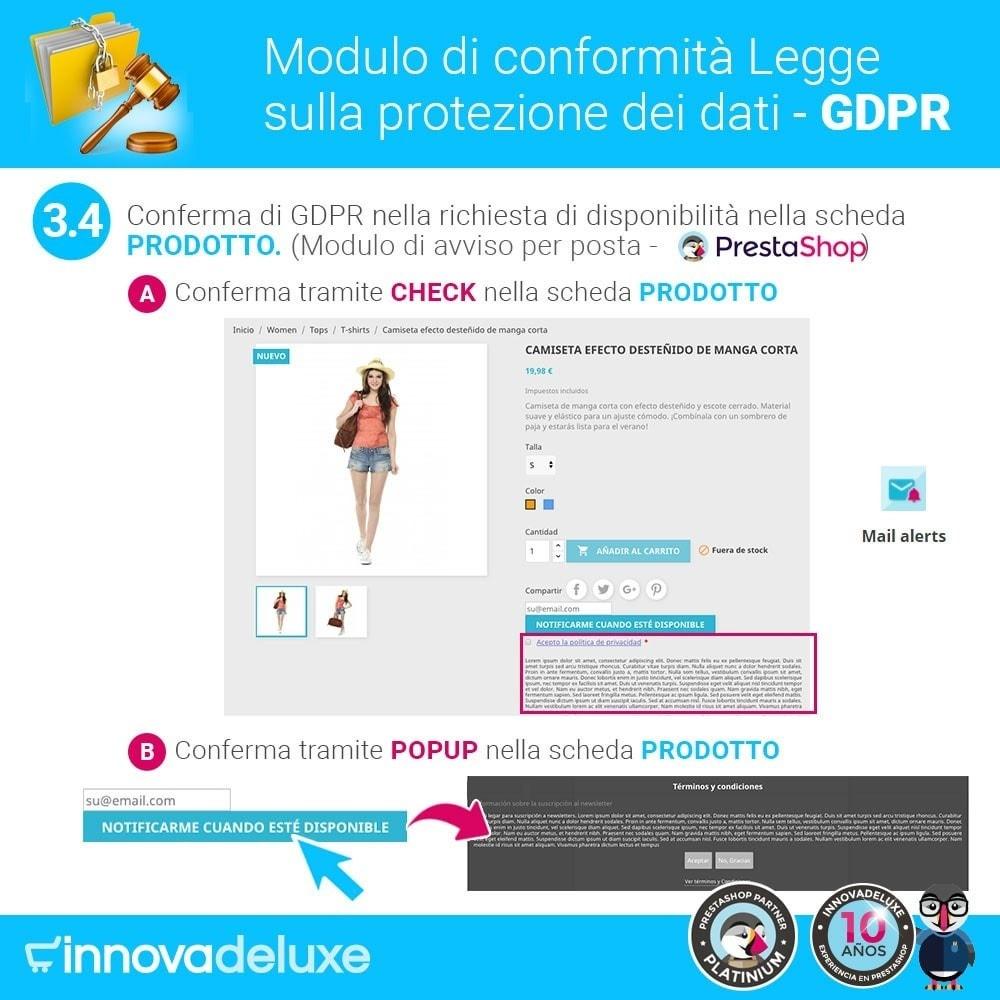 module - Legale (Legge Europea) - Codice in materia di Protezione dei Dati Personali RGPD - 7