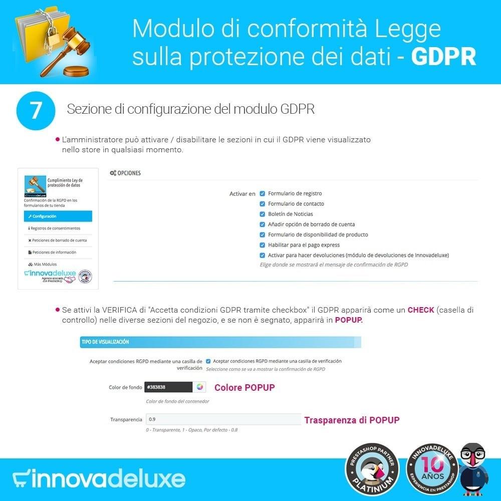 module - Legale (Legge Europea) - Codice in materia di Protezione dei Dati Personali RGPD - 12