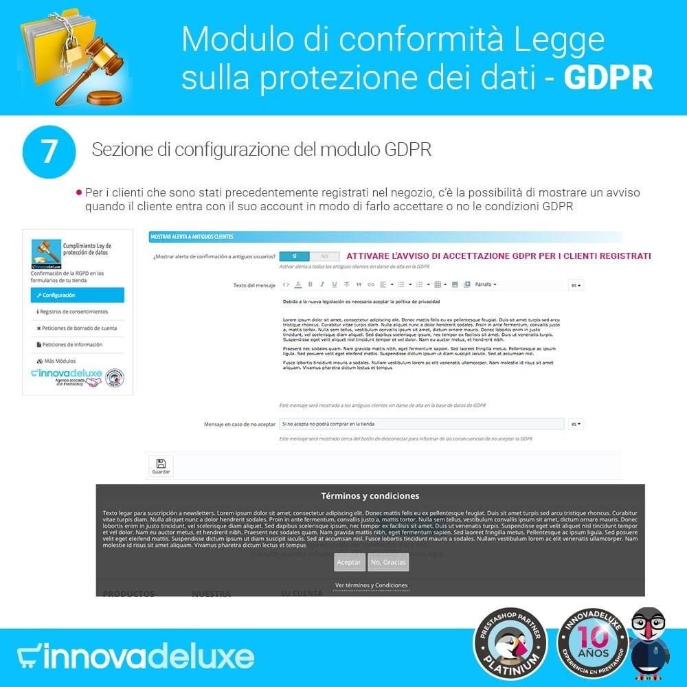 module - Legale (Legge Europea) - Codice in materia di Protezione dei Dati Personali RGPD - 14