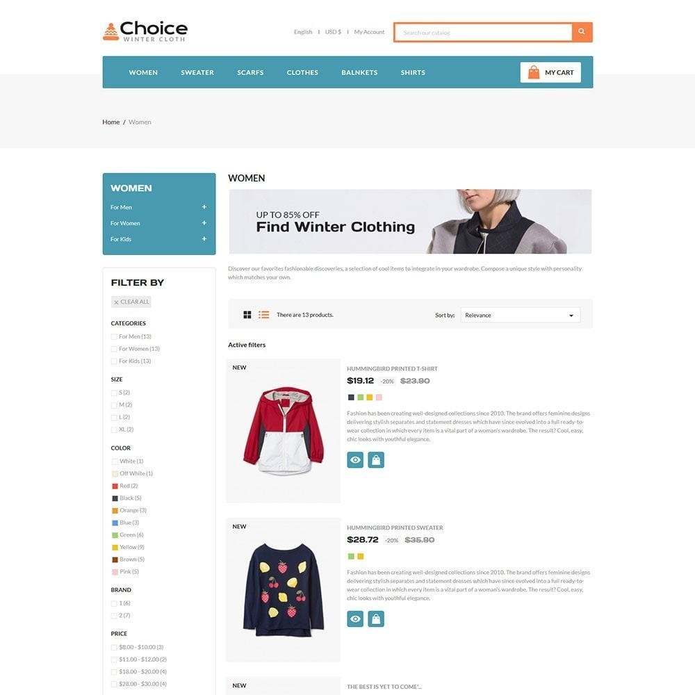 theme - Moda y Calzado - Choice Fashion Store - 4