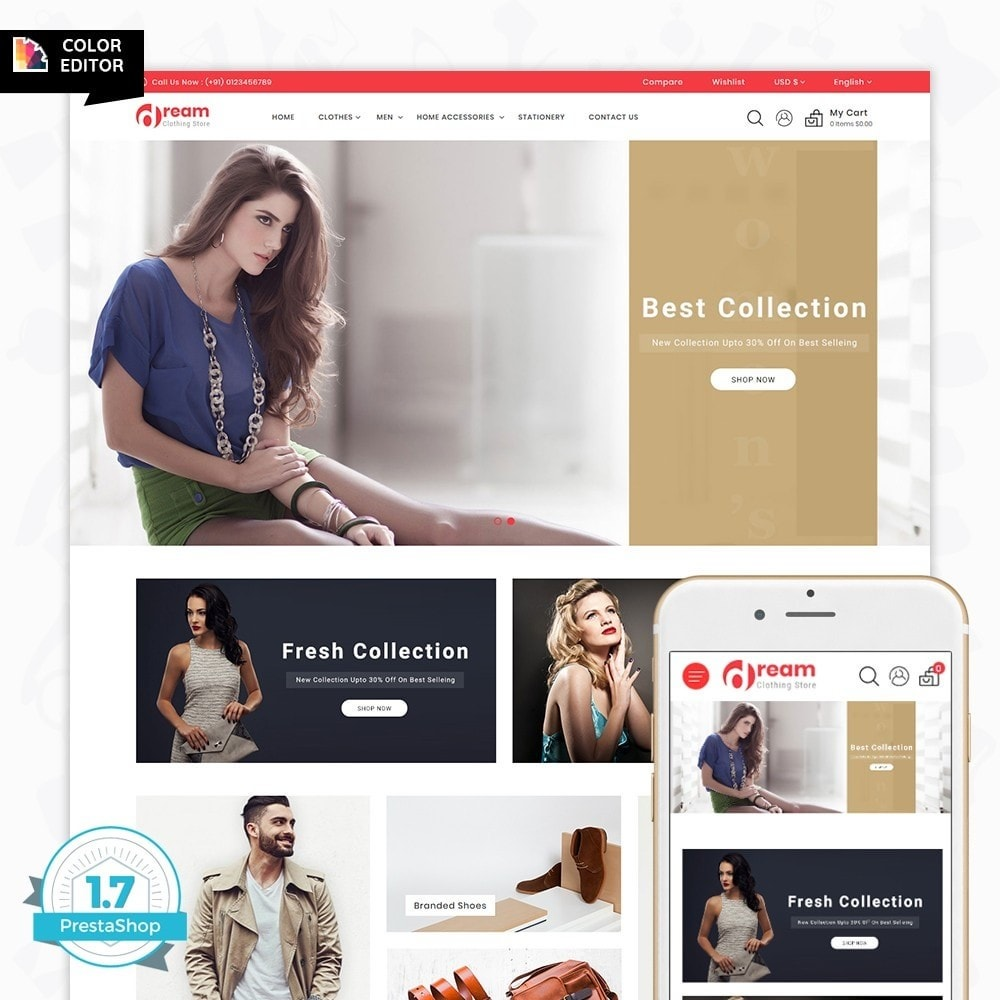 theme - Moda & Calçados - Dream - The Clothing Store - 1