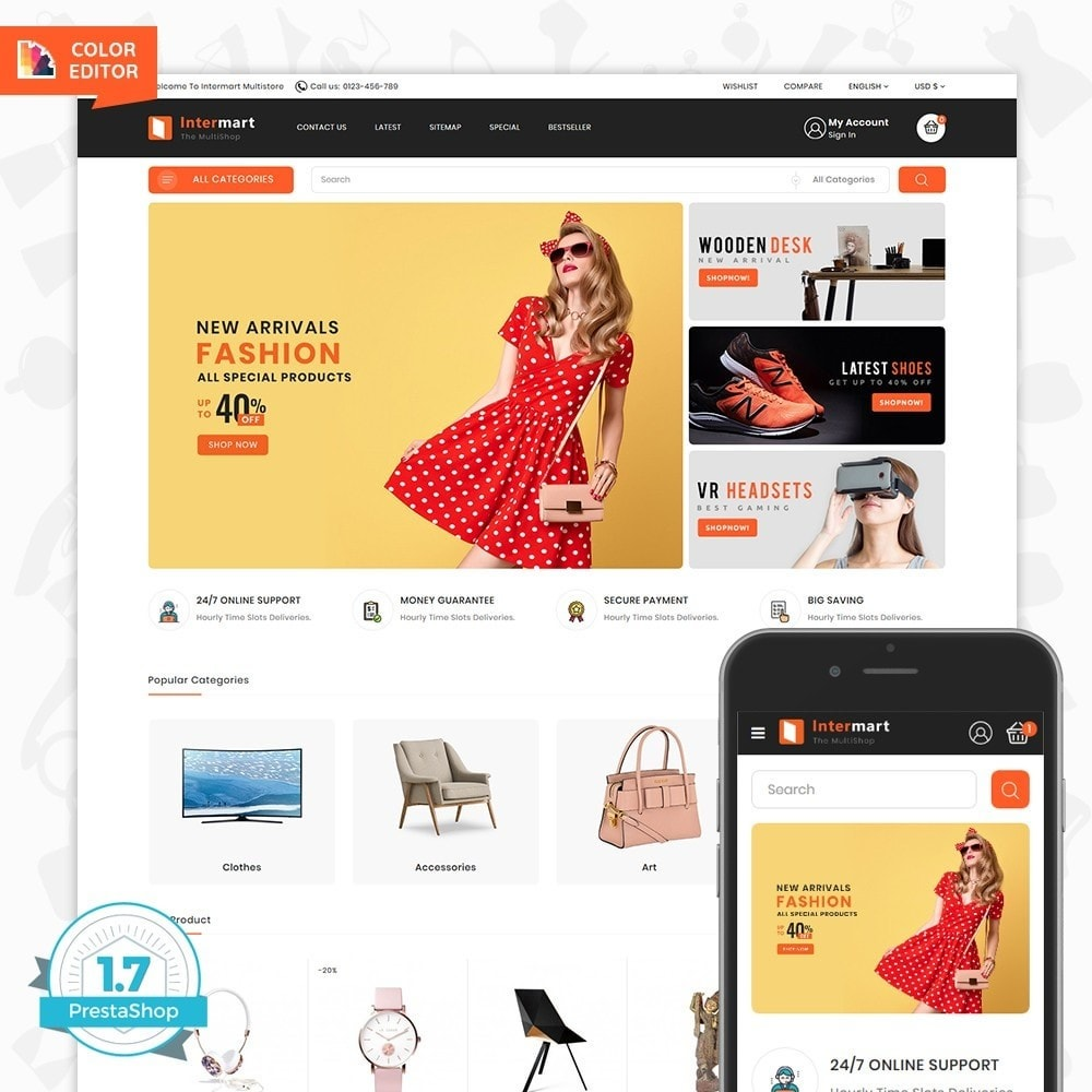 theme - Electronique & High Tech - InterMart - Online Shopping Mart - 1