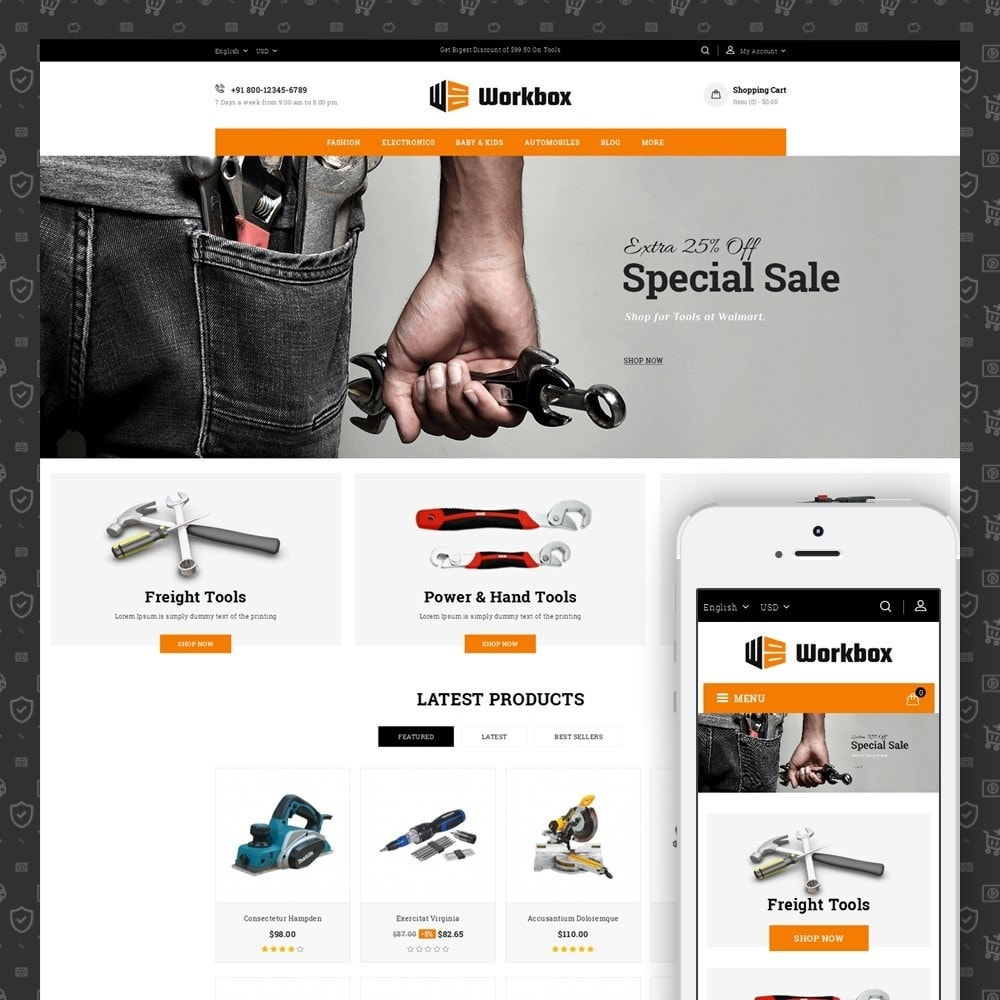theme - Авто и Мото - Work Box- Tools Store - 1