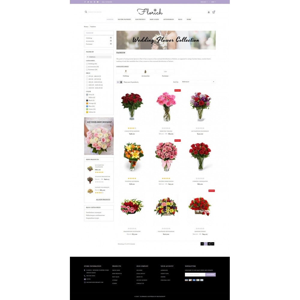 theme - Regali, Fiori & Feste - Florich - Wedding Flowers Store - 3