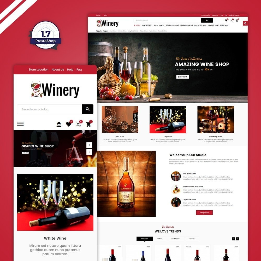theme - Bebidas y Tabaco - Winery France–Wine Alcohol Store - 1