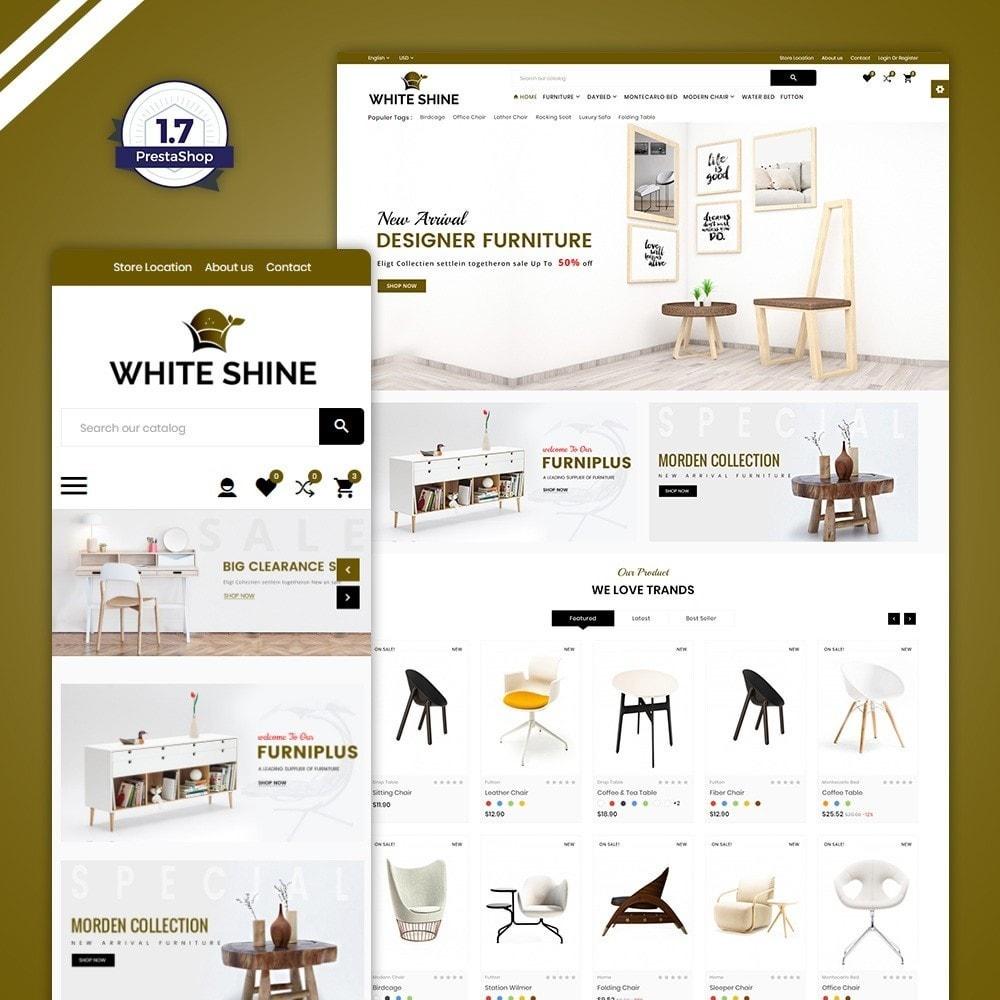 theme - Moda & Calçados - White Shine – Wood Furniture Mega Shop - 1