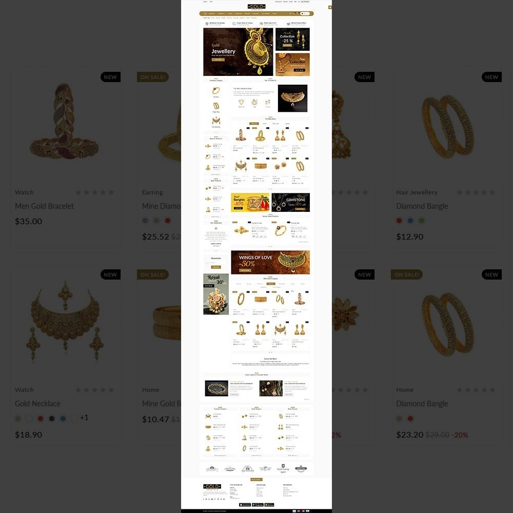 theme - Jewelry & Accessories - The Gold- Jewelry Store - 2