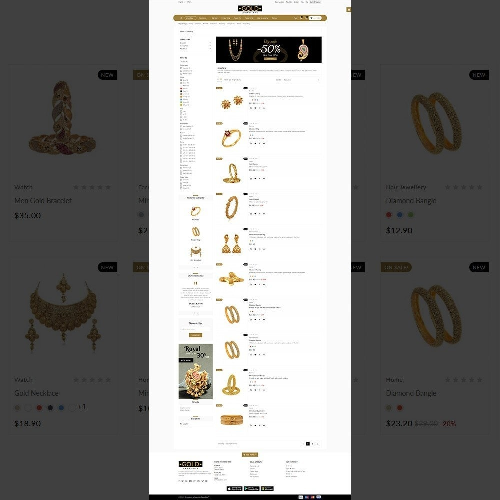theme - Jewelry & Accessories - The Gold- Jewelry Store - 3