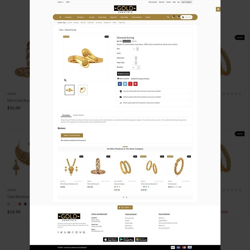 theme - Jewelry & Accessories - The Gold- Jewelry Store - 4