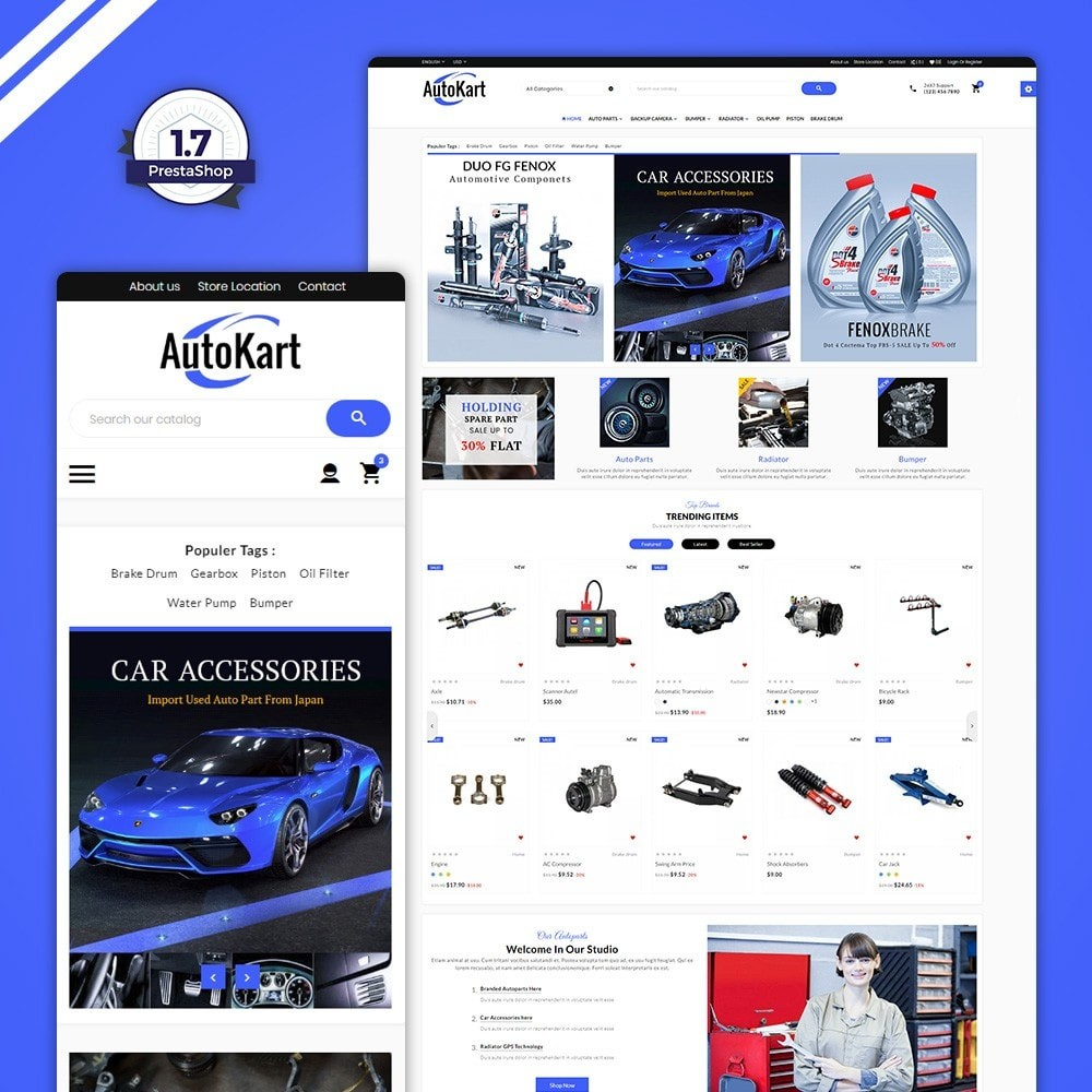 theme - Automotive & Cars - Auto Kart – Tools and Car Accessories Store - 1