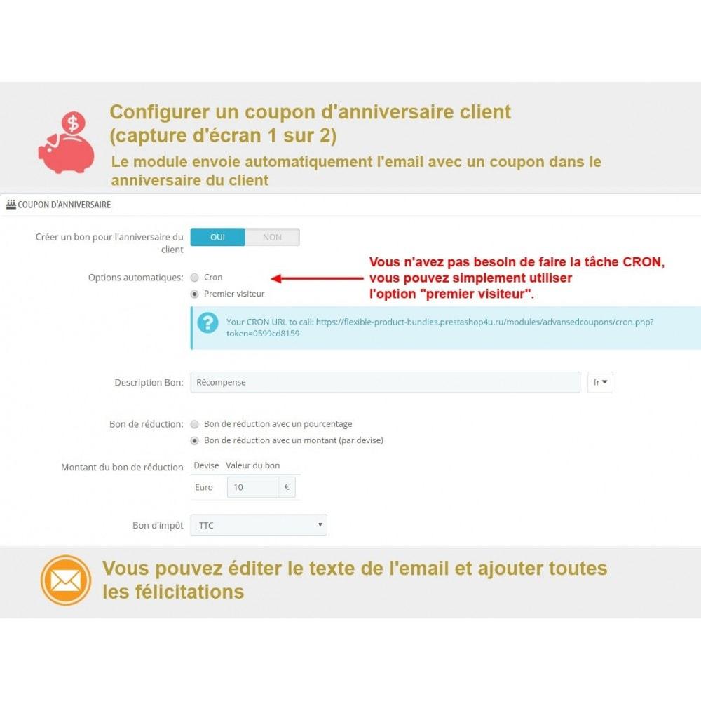 module - Bons de réduction sur les réseaux sociaux - Bon de réduction avancés et points de fidélité - 5