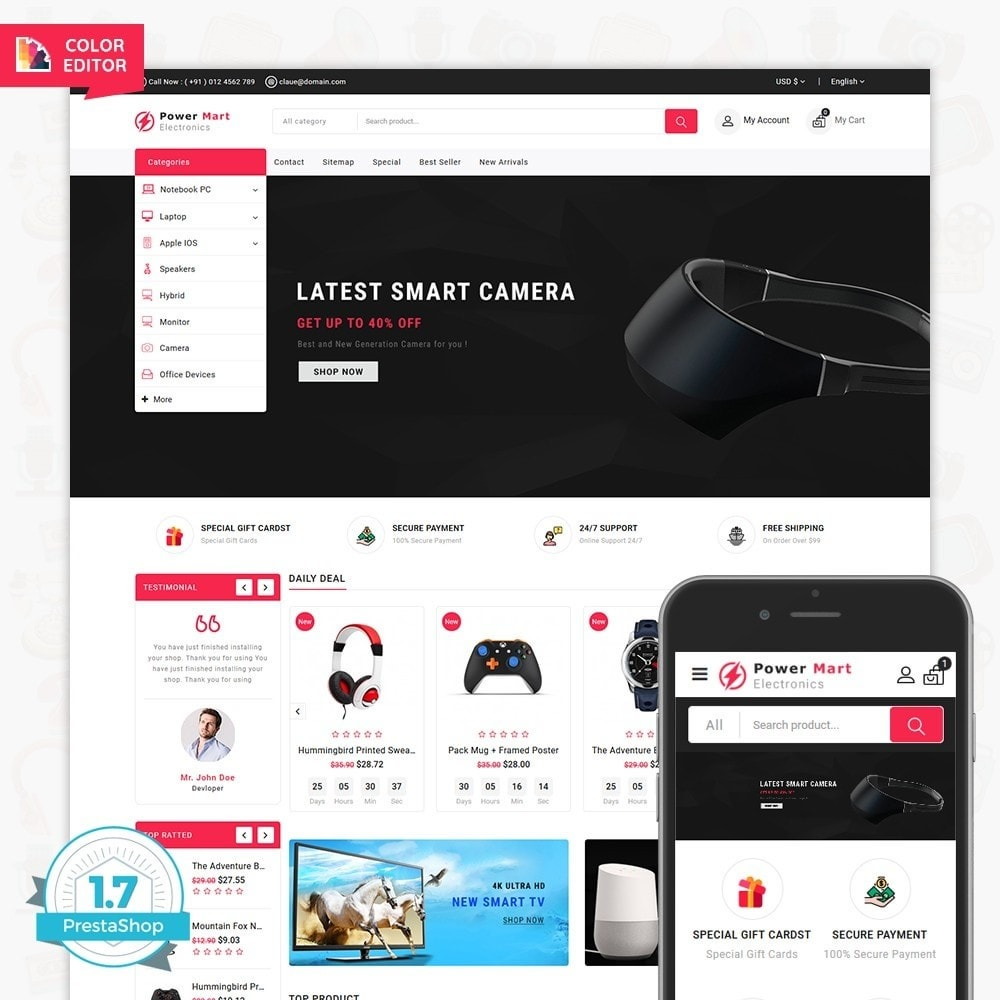 theme - Elettronica & High Tech - PowerMart - Digital Supermarket Store - 1