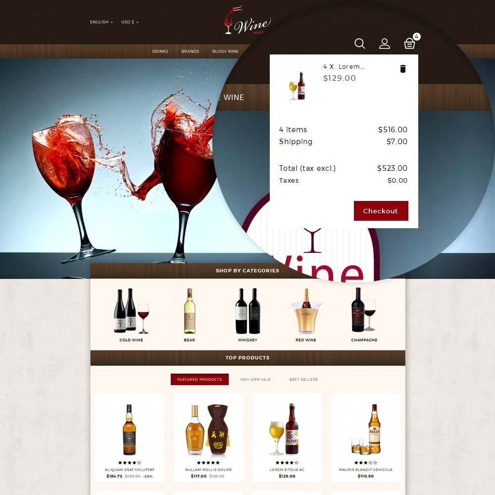 theme - Boissons & Tabac - Wine House Online Store - 8