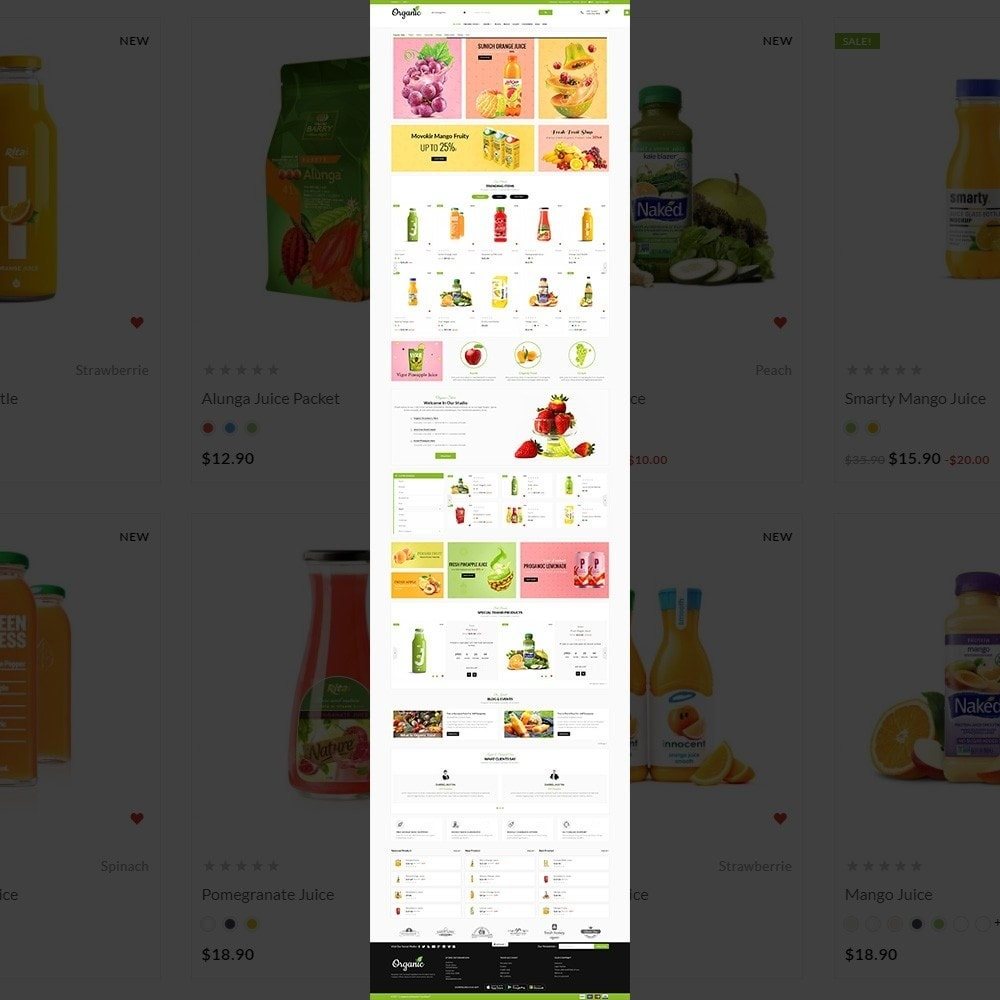 theme - Food & Restaurant - The Organic Store - 2