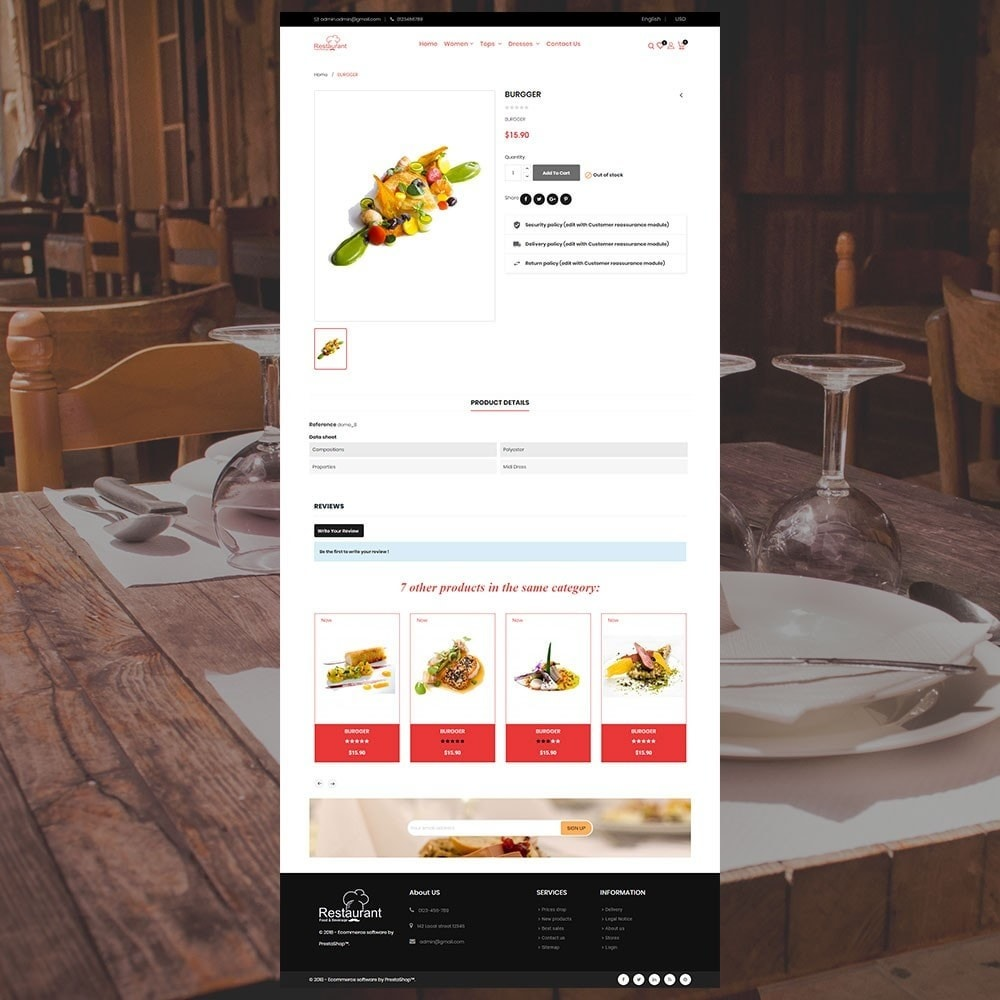 theme - Food & Restaurant - Restaurant Store - 5