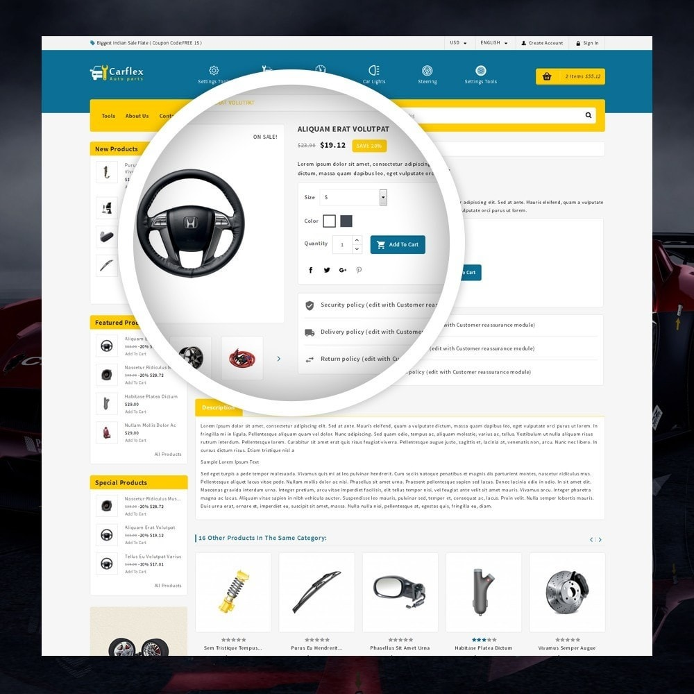 theme - Auto & Moto - CarFlex - The AutoParts Store - 4