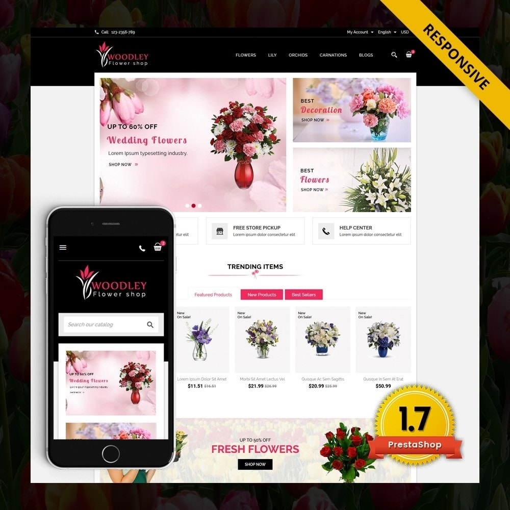 theme - Gifts, Flowers & Celebrations - Woodley - The Flowers Shop - 1