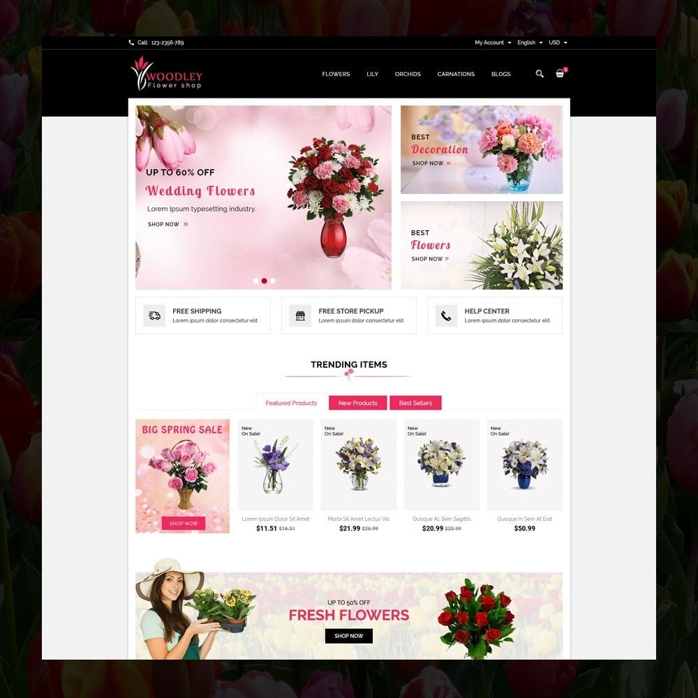 theme - Gifts, Flowers & Celebrations - Woodley - The Flowers Shop - 2