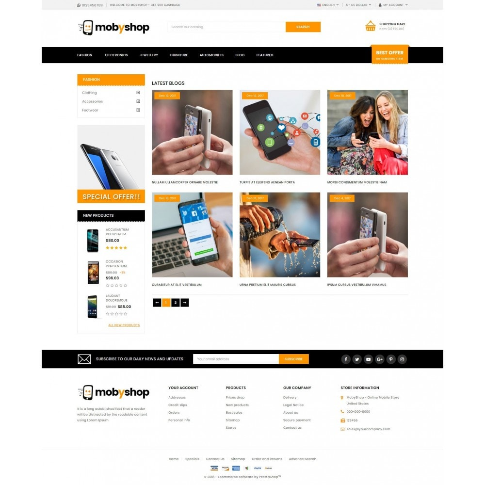 theme - Electronics & Computers - Mobyshop - Online Mobile Store - 9