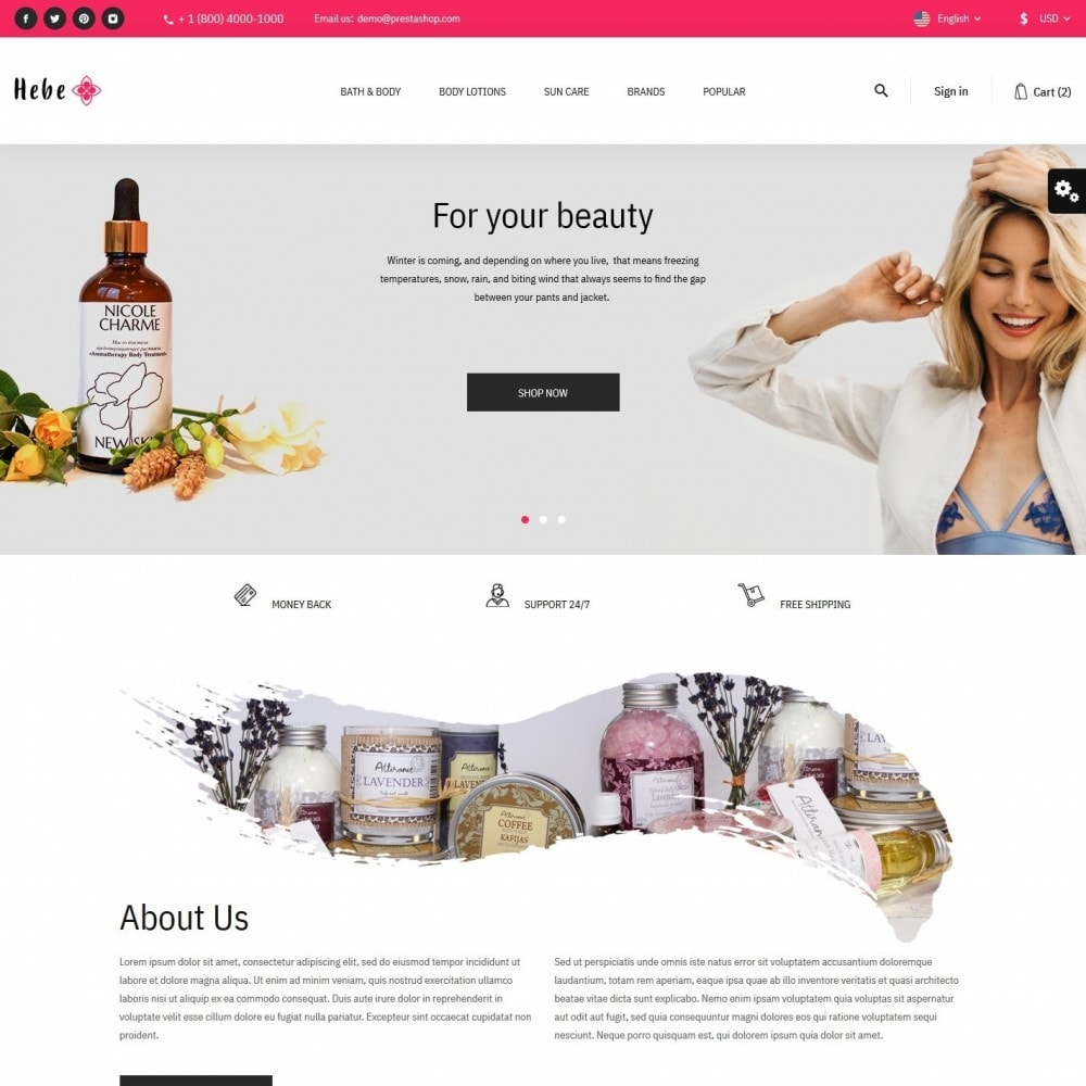theme - Health & Beauty - Hebe Cosmetics - 2