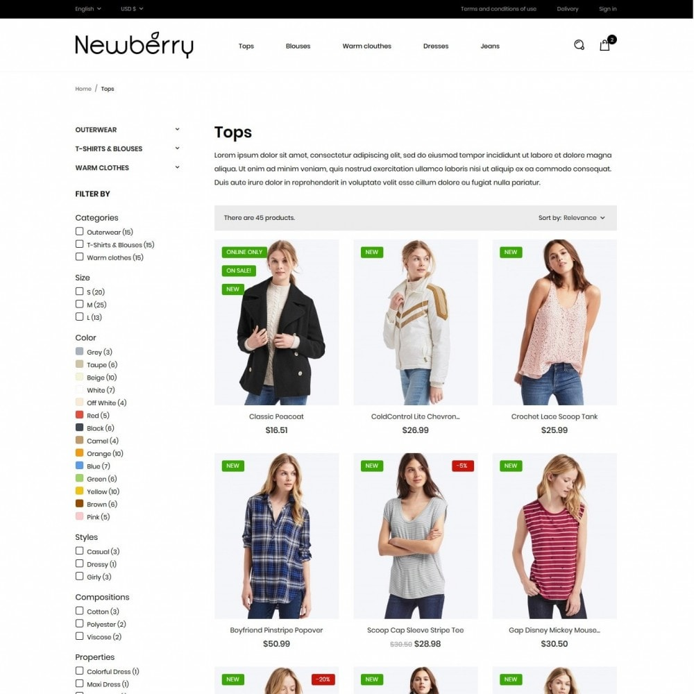 theme - Fashion & Shoes - Newberry Fashion Store - 5