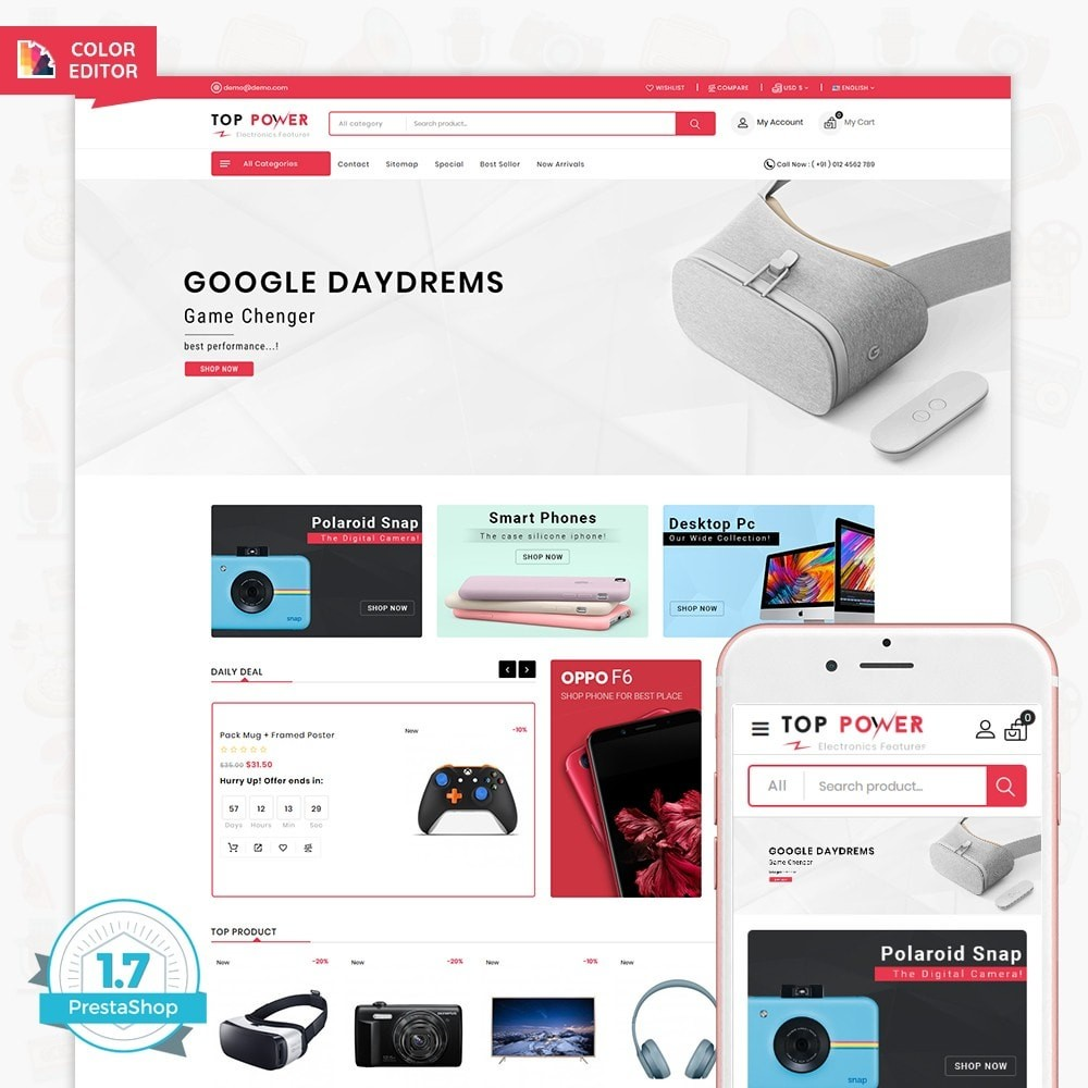 theme - Electronics & Computers - Top Tower - The Mega Ecommerce Store - 1