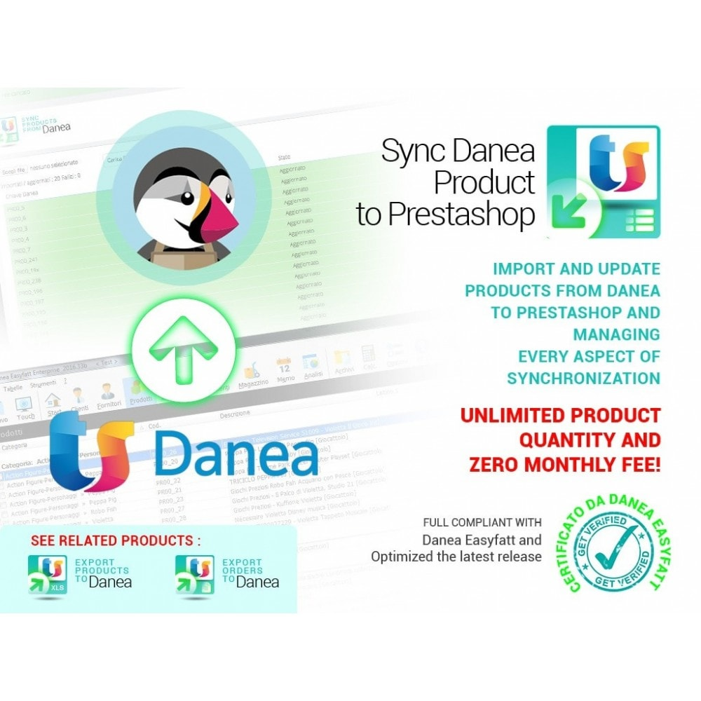 module - Data Import & Export - Import products from Danea to Prestashop - 1