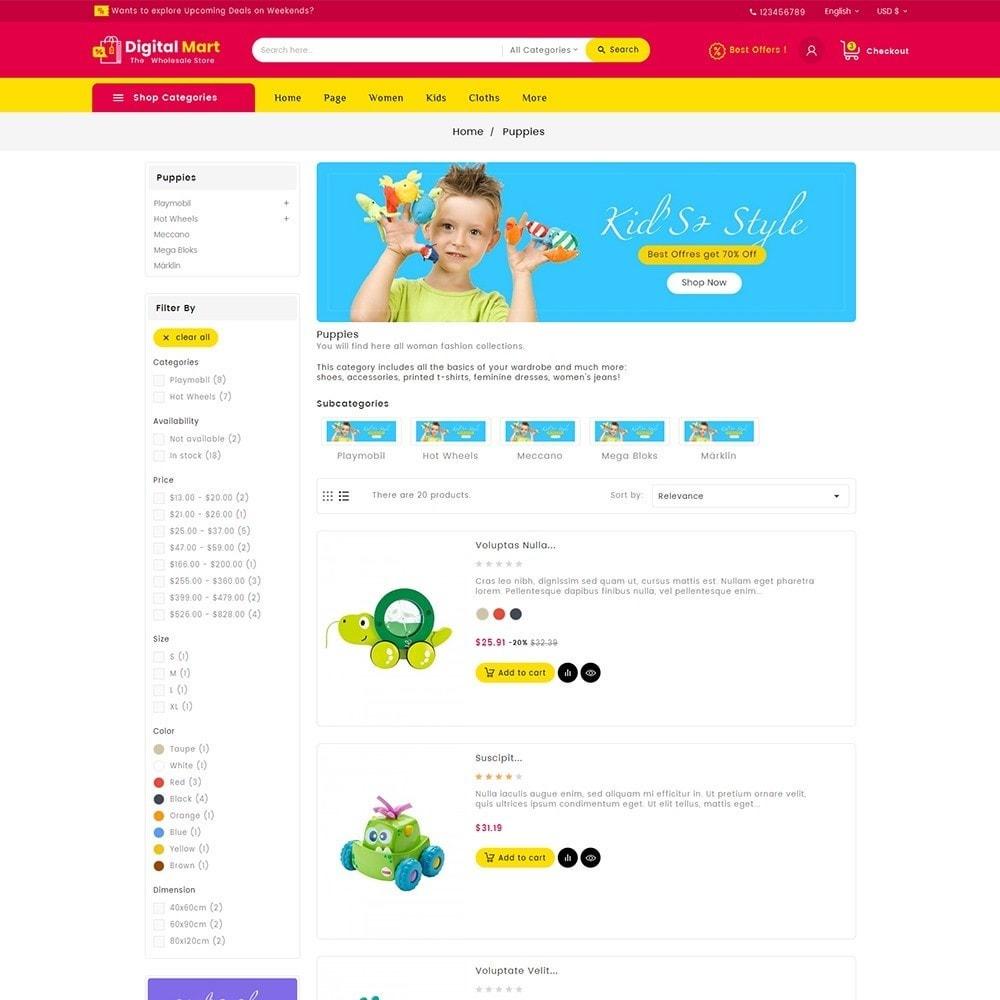 theme - Kinder & Spielzeug - Digital Mart Kids Toys - 6
